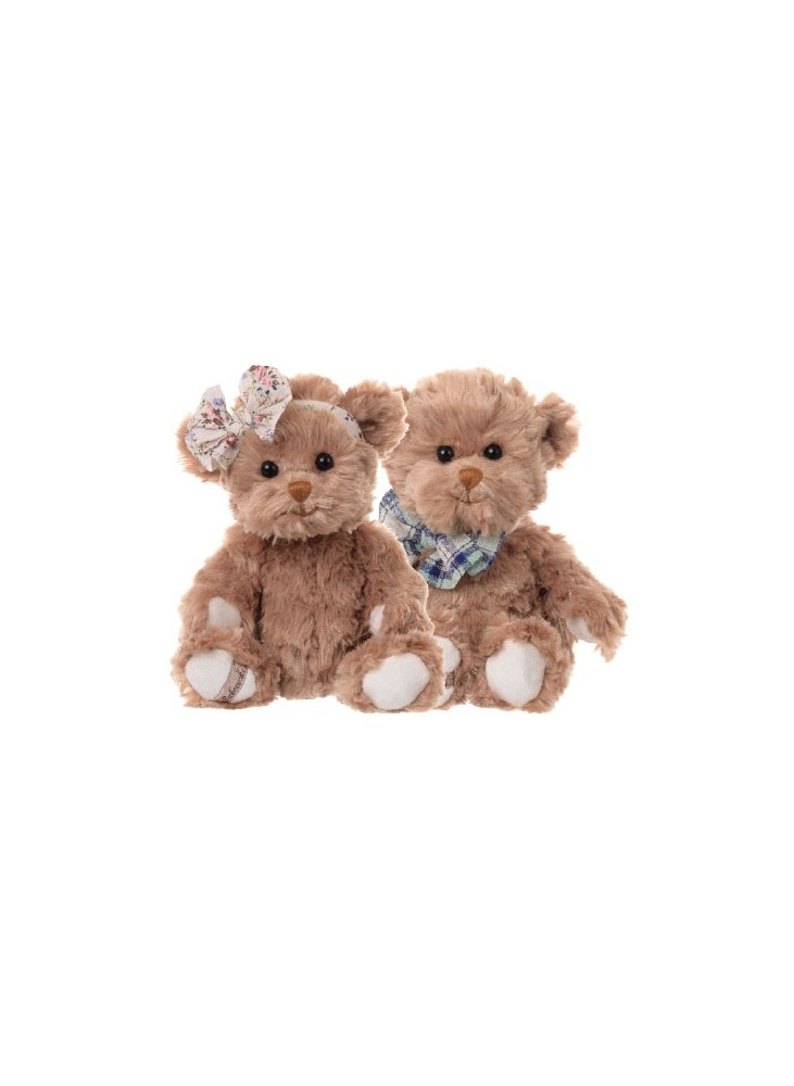 Marc et Millie ours brun Peluches Bukowski